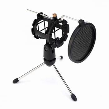 Настольный держатель микрофона с поп-фильтром