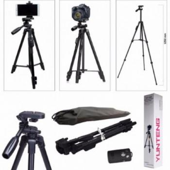 Штатив профессиональный с пультом ДУ для камеры и телефона Yunteng VCT 5208