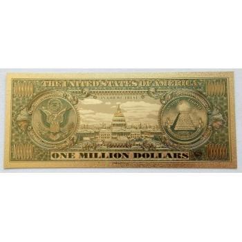 Золотая банкнота 1 000 000 (Миллион) долларов США