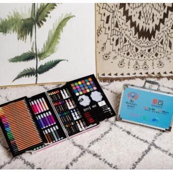 Набор художника с красками в выдвижном кейсе 145 предметов