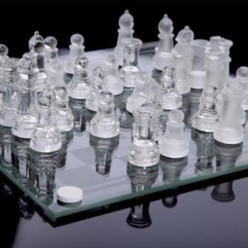 Стеклянные шахматы 25х25см