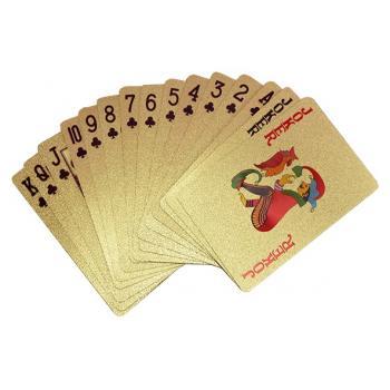 Золотые игральные карты 24K
