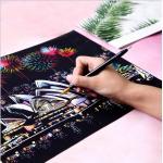 Скретч картины - Раскраска царапанием, набор (цветные)