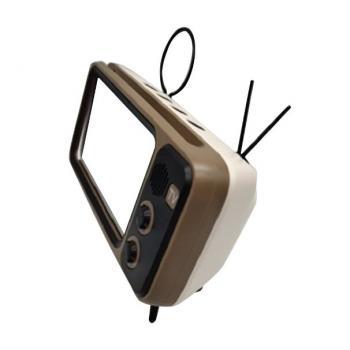 Портативная ретро Bluetooth колонка динамик в виде винтажного телевизора