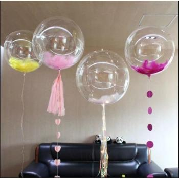Прозрачные воздушные шары Deco Bubbles 18дюйм