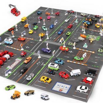 Детский игровой коврик с дорожными знаками