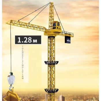 Радиоуправляемый башенный кран, высота 1.3м