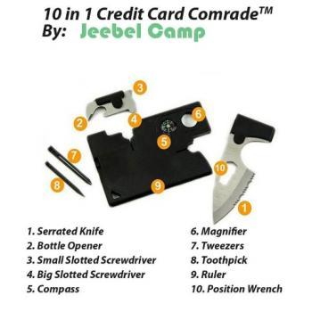 Складной нож кредитка мультитул 10 в 1
