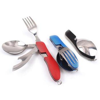Набор складной - нож, вилка, ложка, открывашка