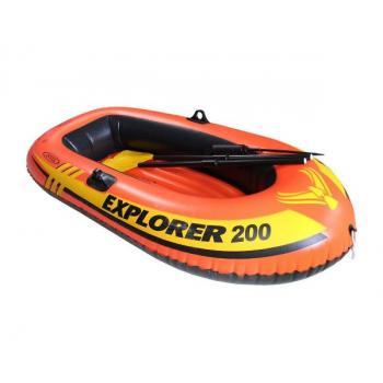 Надувная лодка Explorer, двухместная с веслами и насосом
