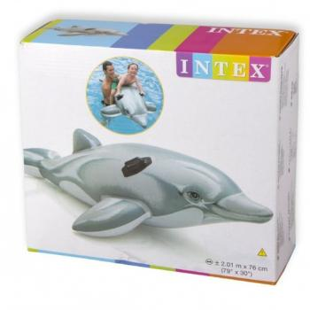 Детский надувной плотик Дельфин 175*66см