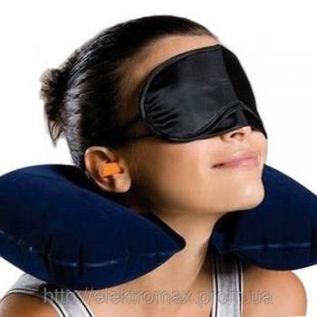 Набор для сна (подушка, маска, беруши)